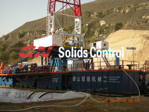 gn 1500hp oil  gas drilling fluid circulation system